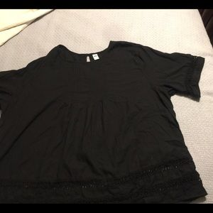 Old navy black boho blouse